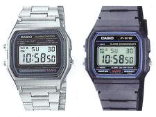 Casio F-91W+A-158W (2 orologi) Orologio Uomo Vintage Nuovo Crono Polso Deal