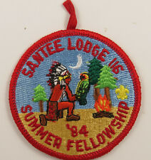 OA Lodge 116 Santee eR1984-2, Fdl; Summer Fellowship [D1731]