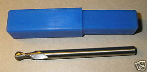 HSS Two Flute Ball Nose 2.5mm Radius - Reduced Shank