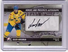 JULIUS BERGMAN 13/14 ITG H&P Rookie Autograph Auto #A-JB RC Sweden Signed Card
