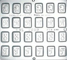 "Alphabet Q R S T 1 1/4"" Chocolate Candy Mold  7009 NEW"