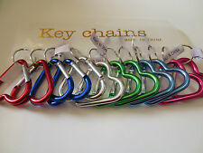 "Lot of 12 pc Heart Carabiner Key Chain / Size 2 1/8"" -2 1/4"""