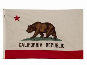 """3x5 ft CALIFORNIA """"The Golden State"""" OFFICIAL STATE FLAG Outdoor Nylon USA Made"""