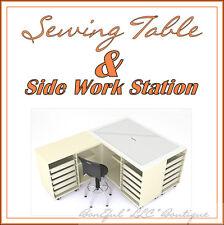 Boneful New Sewing Machine Work L Table Storage Desk Shelf Commercial Industrial