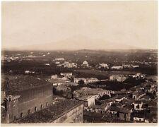 Catania Panorama Large vintage albumen photo George Sommer 1860c