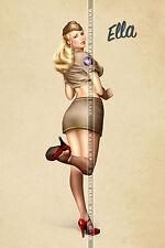 89 SEXY ART DECAL STICKER PIN UP GIRL HOT WWI WWII WORLD WAR BABE SEXY LEGS