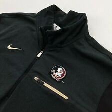 Nike Men's Florida State Seminoles 1/4 Zip Pullover Jacket Black • Medium