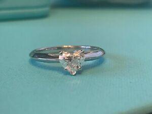 Tiffany & Co platinum heart diamond solitaire ring