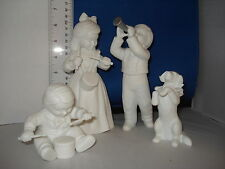 Department 56 Silhouette Little Music Makers set of 4 Very Rare Retired Nib
