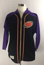 True Vintage 90s Nike 100% Cotton 3/4 Sleeve Hooded Full Zip Funky Purple Stripe