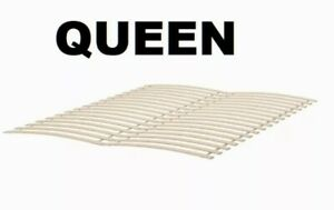 IKEA LUROY Bed Support Slats QUEEN Birch Veneer MALM Slatted Base Bunkie Board