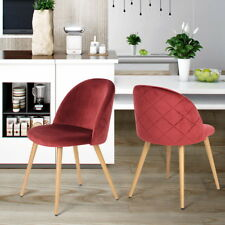 HOMYCASA Kitchen Dining Chair Set Of 2 Accent Chair Velvet Red Living Room