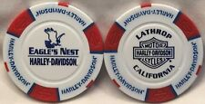 Eagle's Nest Harley-Davidson® in Lathrop, CA Collector Poker Chip White/Red/Blue
