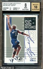 2002-03 SP Game Used Edition Special Significance Michael Jordan AUTO /50 BGS 8