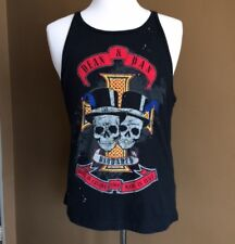 DSQUARED Double Skull Top Hat Tank Top, XL