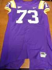 Purple Nike Team Issued LSU Tigers SEC Football Jersey #73 Size 48 Sewn