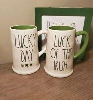 Rae Dunn St. Patrick's Day Lucky Day & Luck Of The Irish Coffee Mug Set