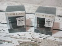 CLAIRE BURKE Oh Christmas Tree Festive Votive Holder (lot of 2!) NEW!