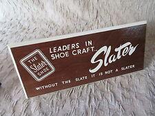 Old Vintage Wooden Slater Shoes Advertising Sign