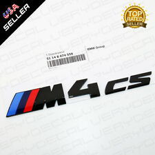 F82 F83 LCI M4 cs Gloss Black Competition Package Trunk Badge OEM M Power Series