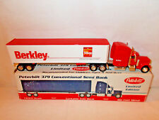 Berkley Fishing Peterbilt Semi Bank With Van Trailer By SpecCast 1/64th Scale