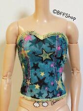 MATTEL GREEN GRAPHIC STRAPLESS TOP 2009 FASHIONISTAS BARBIE FASHION CLOTHES