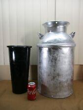 Vintage Primitive LARGE Metal Dairy Farm Milk Can Jug Container w/ Insert 61W 22