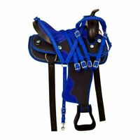 """""""Synthetic Western Adult Barrel Racing Horse Saddle Tack Set Size 14 to 18 Seat"""""""