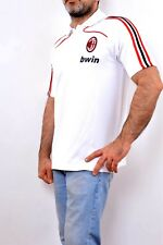 AC Milan Fútbol Negro/Rojo clima 365 Jersey Camisa Climalite L/XK 42/44 buen Bwin