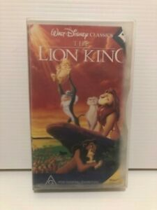 The Lion King on VHS tape (PAL), a Walt Disney Classic, rated G
