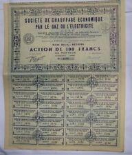 Action Ancienne: Ste de chauffage economique ( 304 )