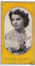 OLYMPE BRADNA ACTRESS ACTRICE  FRANCE IMAGE CARD 30s