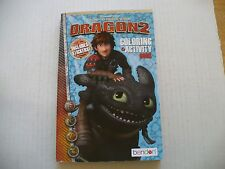 """""""HOW TO TRAIN YOUR DRAGON 2"""" COLORING/ACTIVITY BOOK - 2014 FROM BENDON BOOKS"""