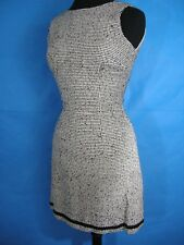 Tracy and Michael Sample Dress White Black Size 4  Sleeveless Fitted Sheath