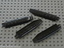 4 x LEGO black hinge ref 30407 /set 8112 7713 4746 7741 7044 7031 4743 7782 8108