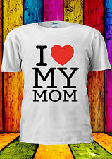 Mothers Day I Love My Mom Heart T-shirt Vest Tank Top Men Women Unisex 1841