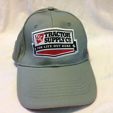 TSC Strapback Hat Cap Since 1938 Tractor Supply Company NWT Gray NEW