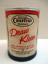 Rare, Vintage CrafTint Draw Kleen Cleaning Powder for Drawings Art Work c. 1950s