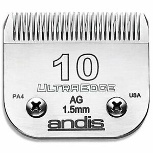 Andis UltraEdge No.10 A5 Snap On Clipper Blade Leaves 1.6mm Fit Andis Wahl Oster