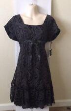 NWT Anthropologie Anna Sui Gray Lace Dress 8 $398 Boho Vintage