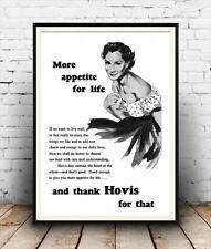 Mehr Lust auf Leben: alte HoVIS Brot Werbung Poster Reproduktion.