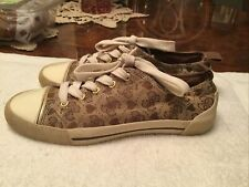 GUESS Black Silver Shimmer Canvas Sneakers Tennis Shoes Women's Size 6 M