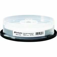 VERBATIM 4X Blu-Ray BD-R XL 100GB White Inkjet Hub Printable 10 pk Spindle 98897