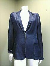Elie Tahari Blazer Indigo Tencel Denim Look One-Button w/ Pockets Jacket ~Size L