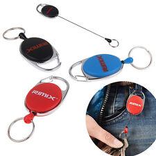 Ausziehbar Schlüsselanhänger mit Nylonband Karabiner Clip Kartenhalter neu