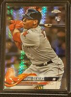 RAFAEL DEVERS 2018 TOPPS CHROME RC PRIZM REFRACTOR MINT ROOKIE #25 RED SOX