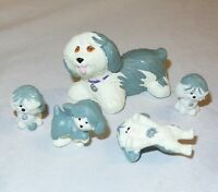 Vintage Kenner LPS Mommy & Baby Puppies 1992 Littlest Pet Shop