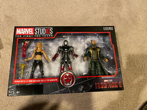 Marvel Legends First Ten Years Iron Man 3 Pack - MCU Petter Potts, The Mandarin