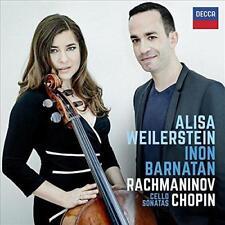 Inon Barnatan Alisa Weilerstein - Rachmaninov & Chopin Cello Sonatas (NEW CD)