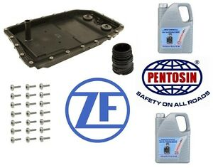 For BMW E60 E65 E90 F01 ZF Oil Pan+Pentosin 10 Liter Fluid+Bolts+Valve ZF OEM